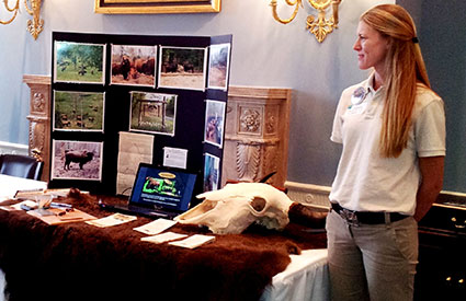 Cibola Farms offered bison trail sticks and information about raising bison at the National Bison Day celebration on Capitol Hill in Washington, DC. (Nov. 2012) <b>&copy;WCS</b>