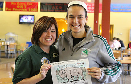 Students had an opportunity to color pictures of bison during Bethany College's National Bison Day celebration. (Nov. 2012) <b>&copy;Bethany College</b>